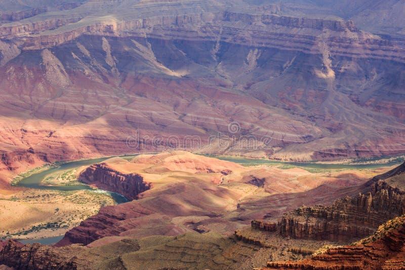 O Rio Colorado em Grand Canyon NP fotografia de stock royalty free