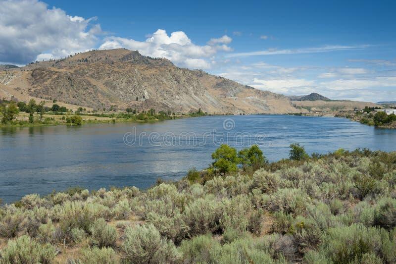 O Rio Columbia é o rio o maior no noroeste pacífico fotos de stock royalty free