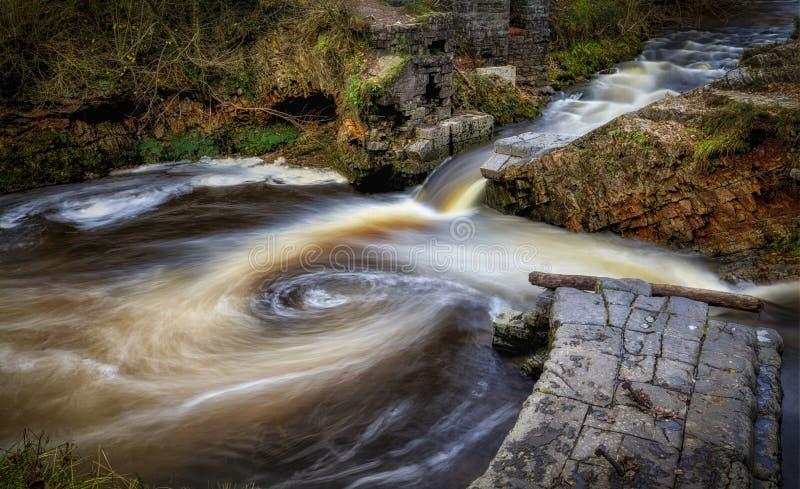 O rio de Avon Mellte fotografia de stock