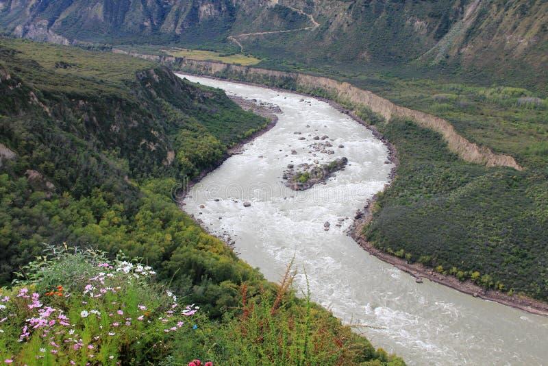 O rio de Brahmaputra fotografia de stock royalty free