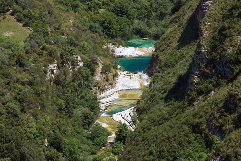 O rio de Cavagrande em Sicília imagem de stock royalty free