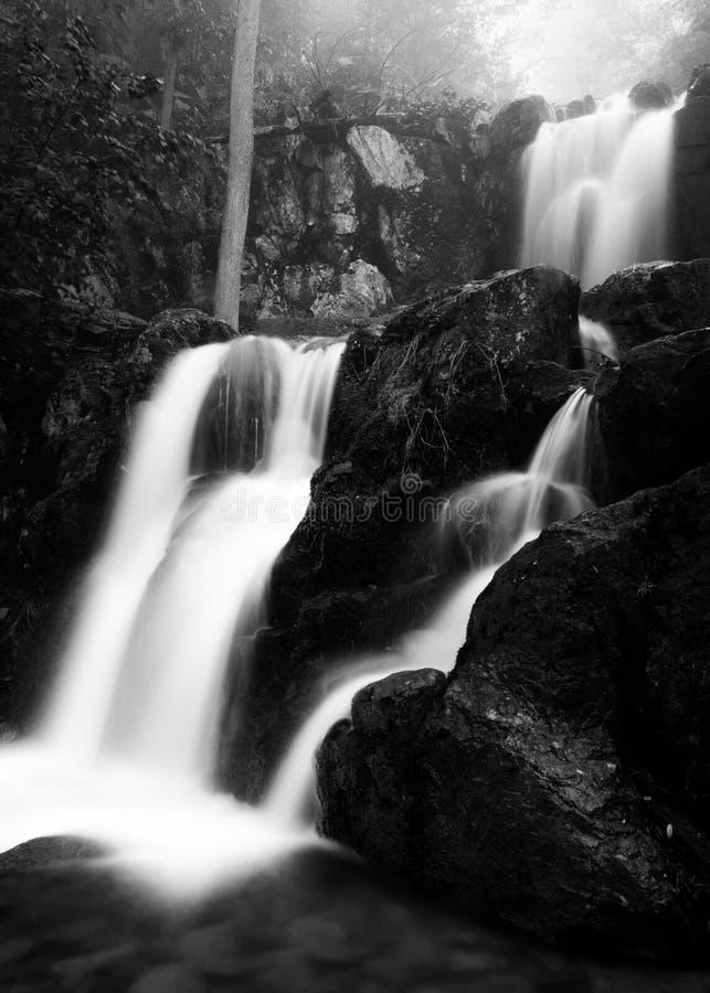 O rio de Doyle superior cai no parque nacional de Shenandoah, fotografia de stock