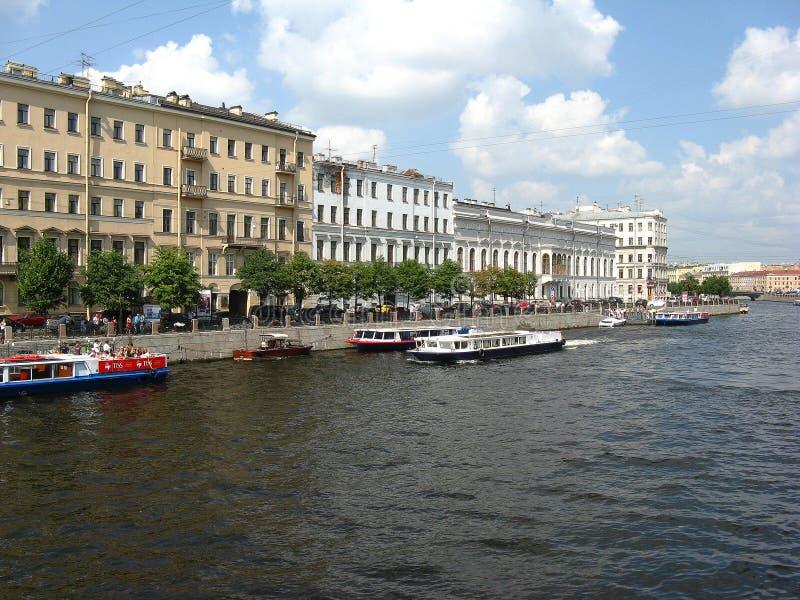 O rio de Fontanka, St Petersburg fotos de stock royalty free