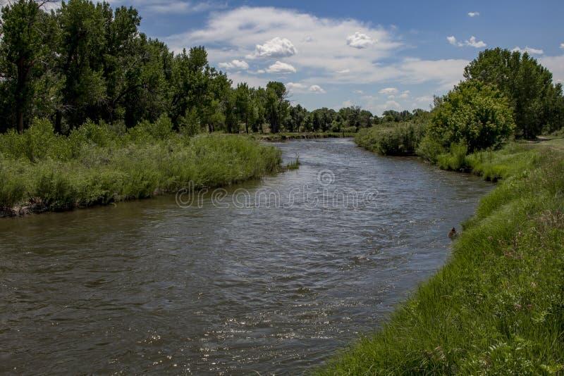 O rio de Laramie imagem de stock