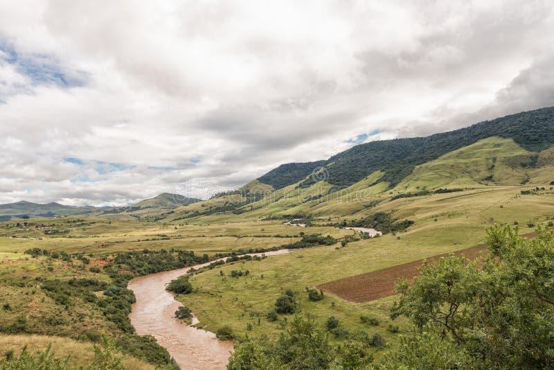 O rio de Mkomazi entre Boston e Bulwer em Kwazulu Natal foto de stock