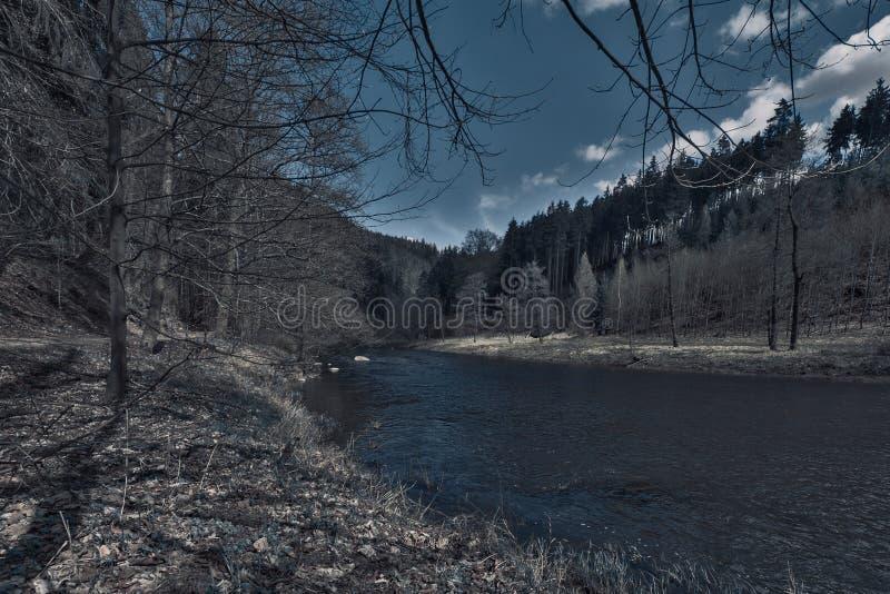 O rio de Oh?e em República Checa fotografia de stock