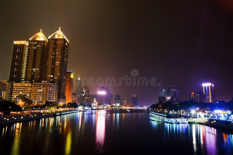 O rio do amor de kaohsiung fotografia de stock