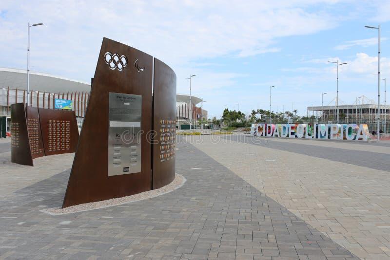 O Rio 2016 do parque olímpico foi transformado em uma área de lazer b fotos de stock