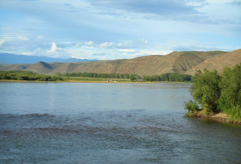 O Rio Ienissei em Sibéria fotografia de stock royalty free