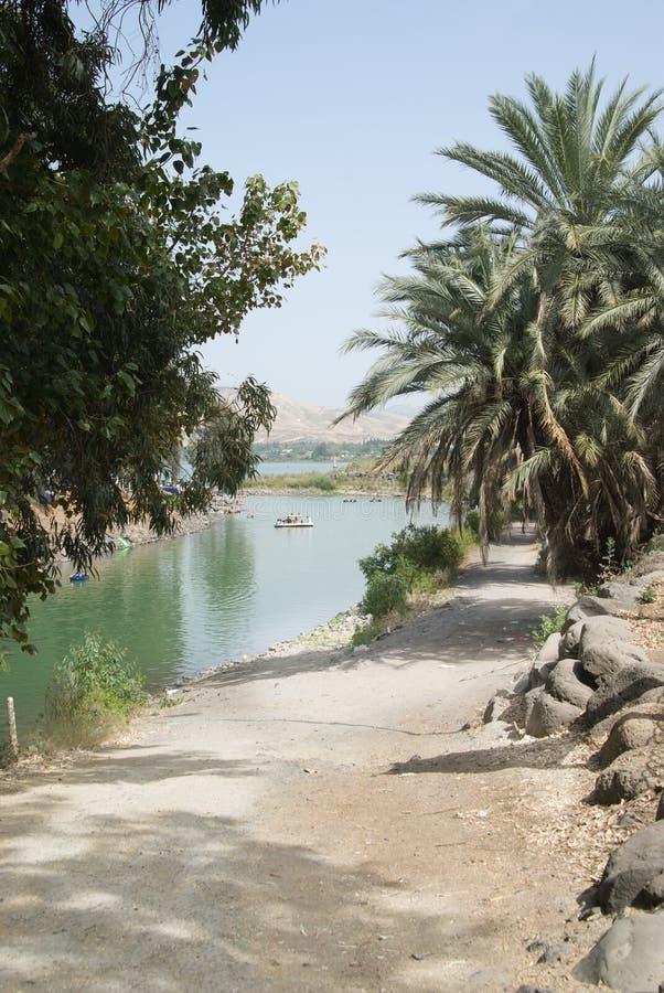 O rio Jordão imagens de stock