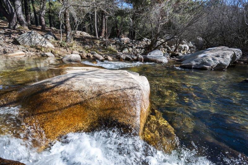 O rio Manzanares imagem de stock