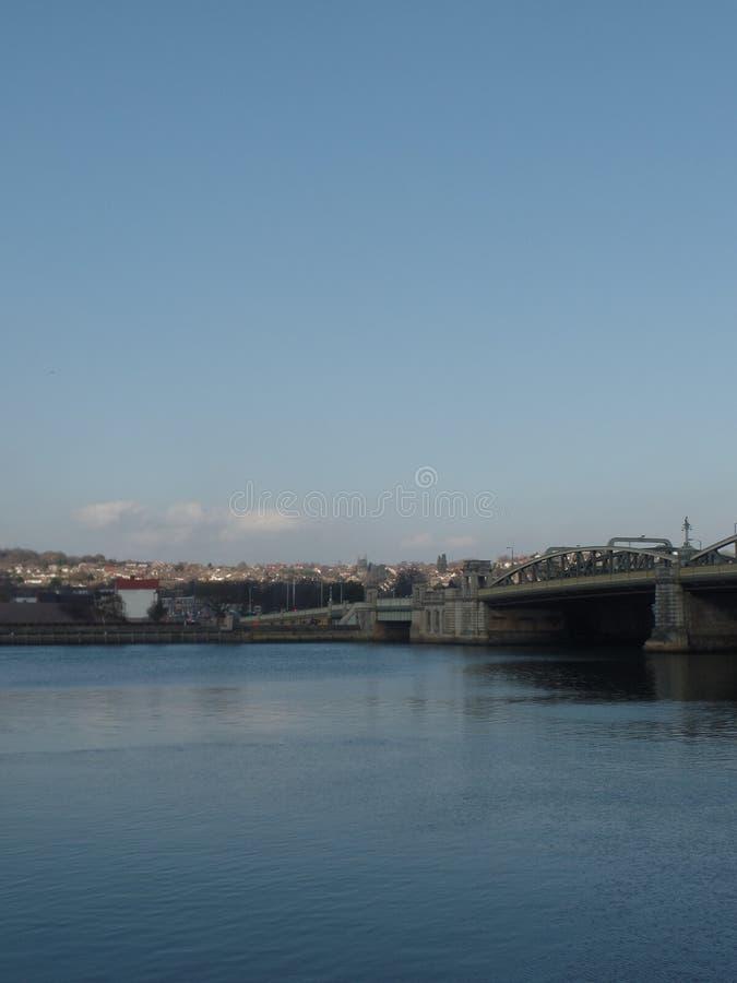 O rio Medway, Rochester, Reino Unido fotos de stock royalty free