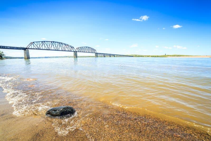 O Rio Missouri bonito, largo imagem de stock royalty free