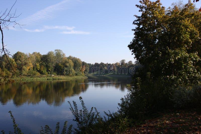 O rio Neman em Druskininkai imagem de stock