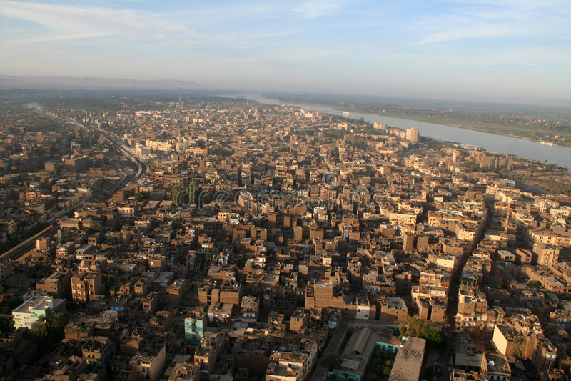 O rio Nile - aéreo/elevou a vista imagem de stock royalty free