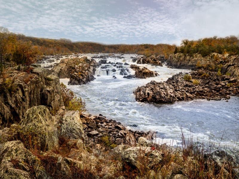 O Rio Potomac em Great Falls imagem de stock royalty free