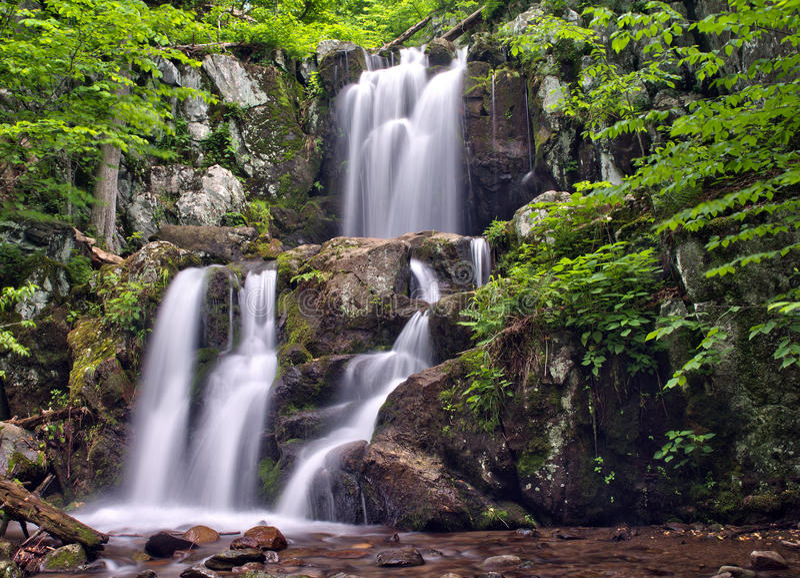 O rio superior de Doyles cai no parque nacional de Shenandoah foto de stock royalty free