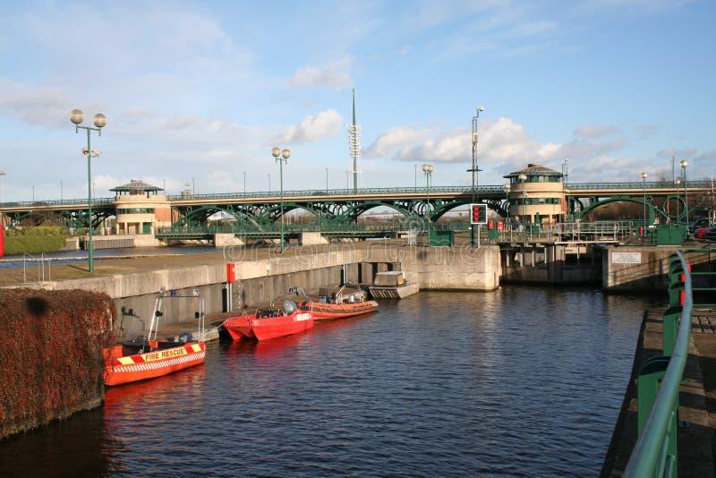 O rio Tees a barragem imagens de stock