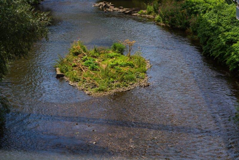 O rio Wupper em Wuppertal imagem de stock