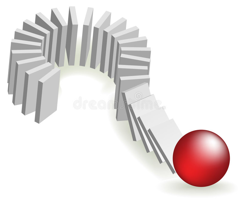 O risco de efeito de dominó imagem de stock
