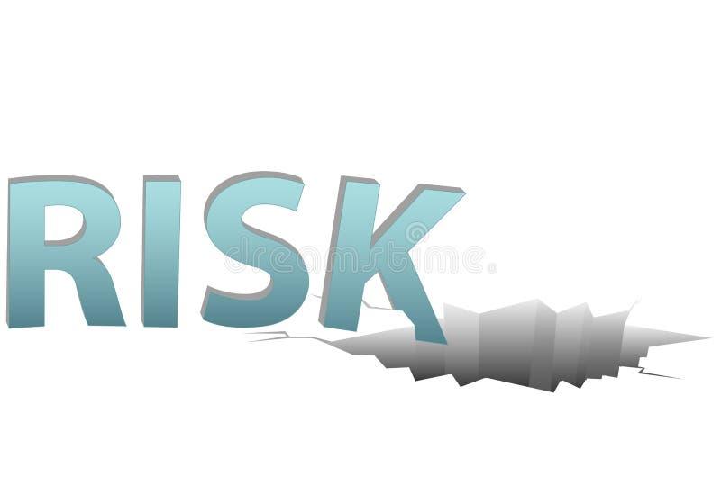 O RISCO não segurado cai no furo financeiro perigoso ilustração do vetor