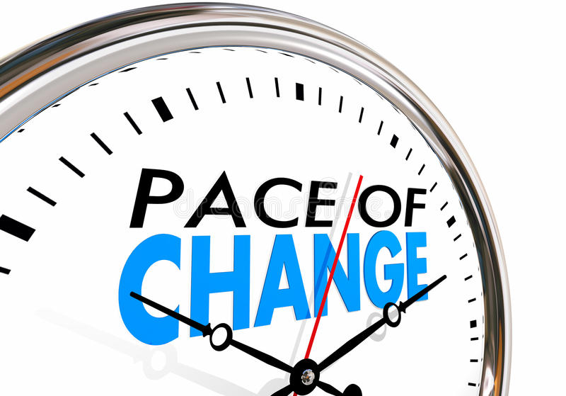 O ritmo da atualização da mudança adapta o pulso de disparo da evolução ilustração royalty free