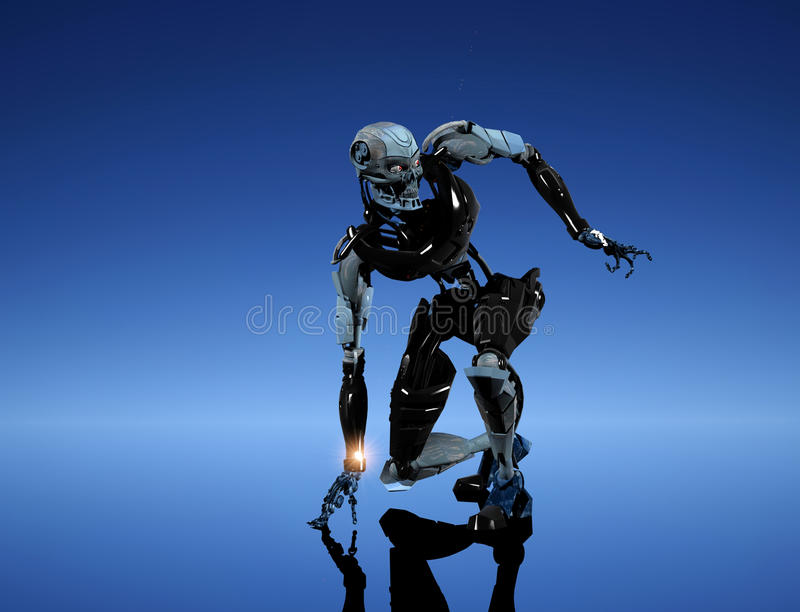 O robô ilustração do vetor