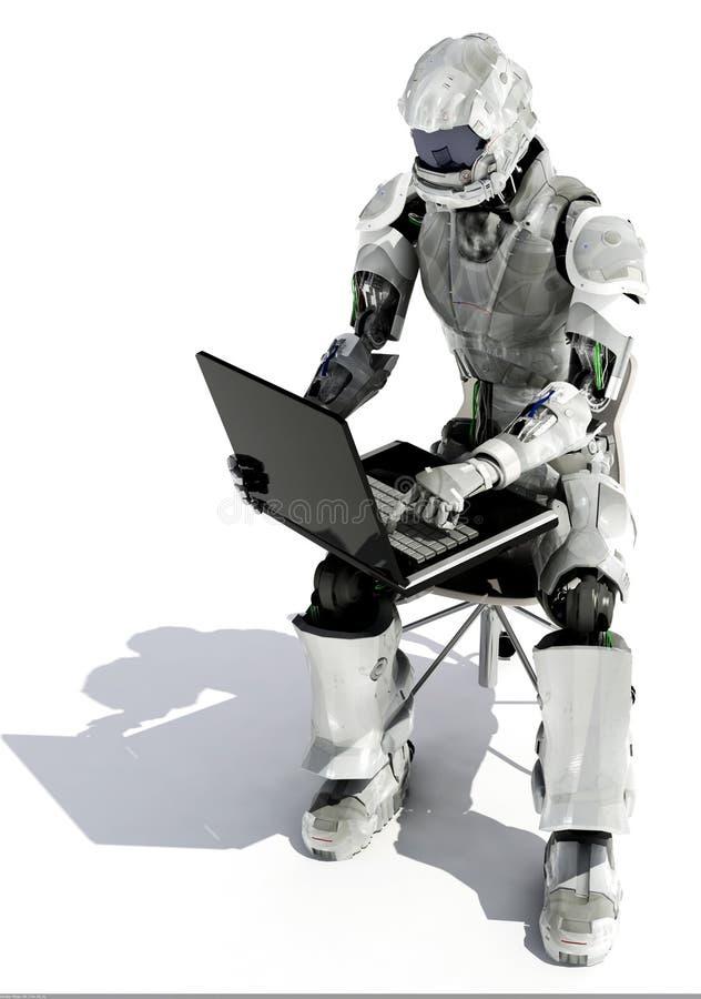 O robô ilustração stock