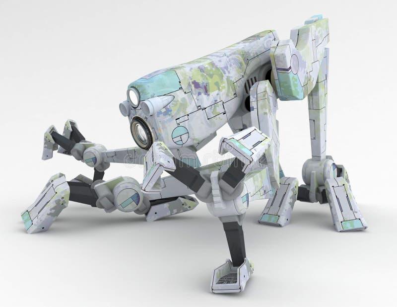 O robô do caminhante, agacha-se ilustração stock