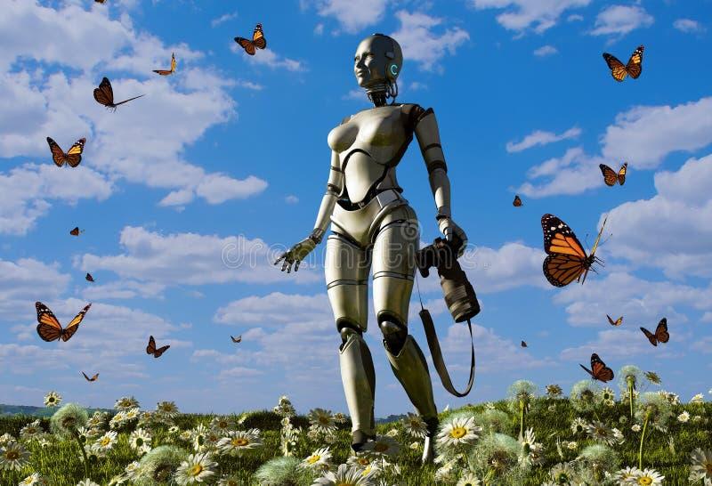 O robô ilustração royalty free