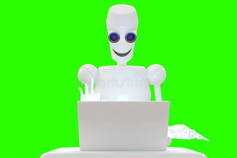 O robô mostra o gesto imagem de stock