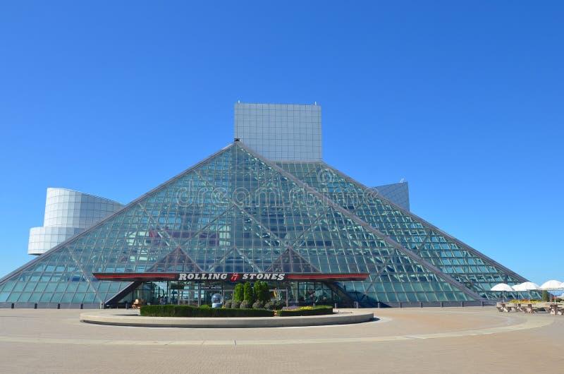 O Rock and Roll Hall of Fame em Cleveland imagem de stock