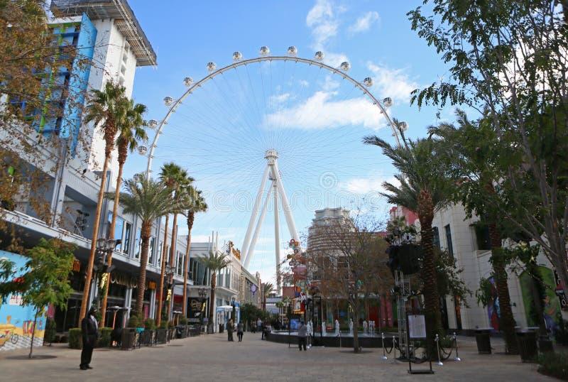 O rolo alto Ferris de Linq roda dentro Las Vegas foto de stock