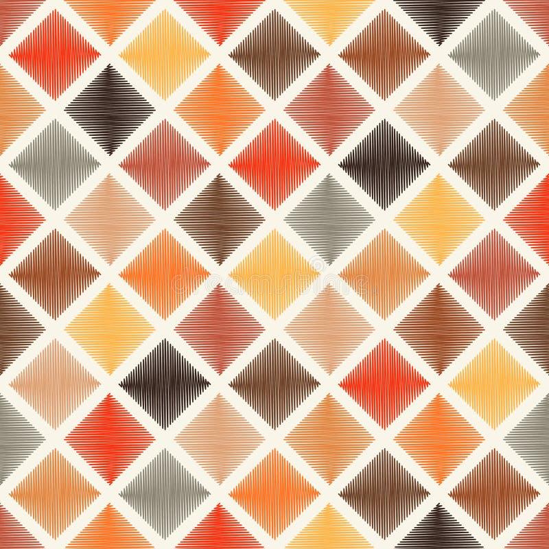 O rombo multicolorido sem emenda telha o teste padrão ilustração do vetor