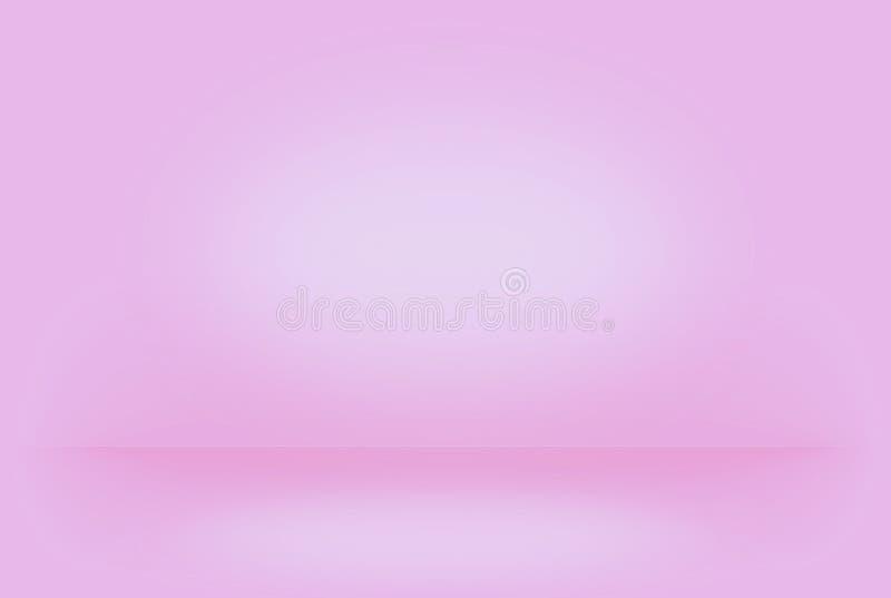 O rosa abstrato borrou a parede lisa do inclinação da cor do fundo ilustração royalty free