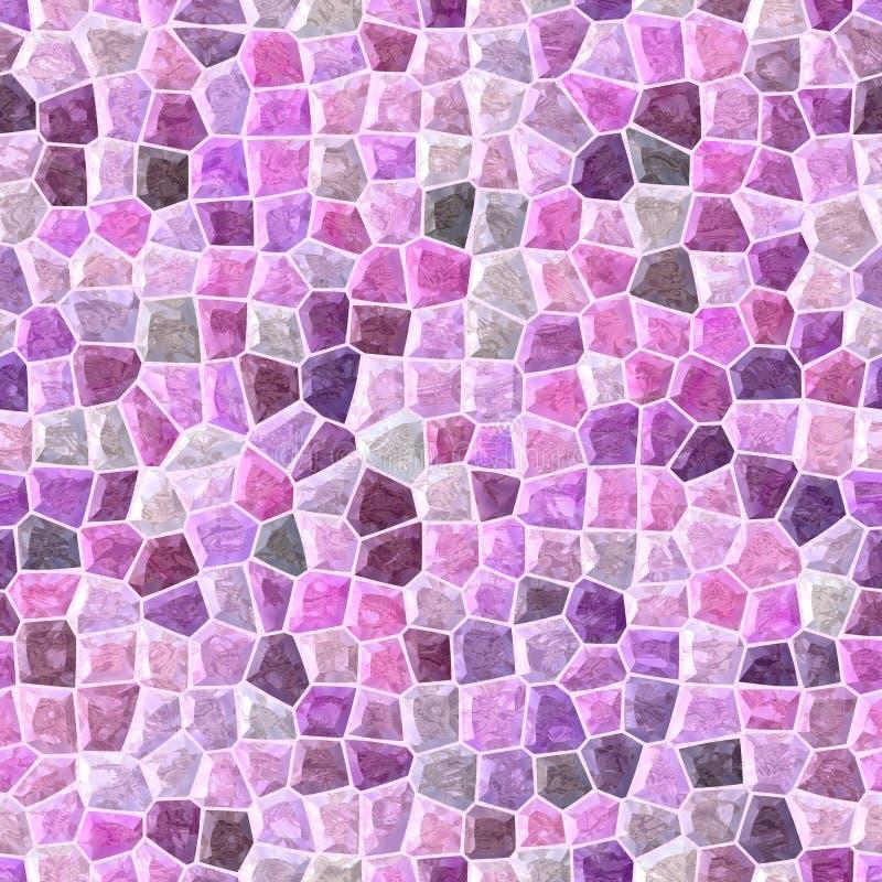 O rosa coloriu o fundo sem emenda da textura rochoso plástica irregular de mármore abstrata do teste padrão de mosaico ilustração stock