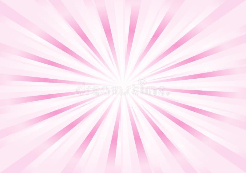O rosa macio claro abstrato irradia o fundo Vetor ilustração stock