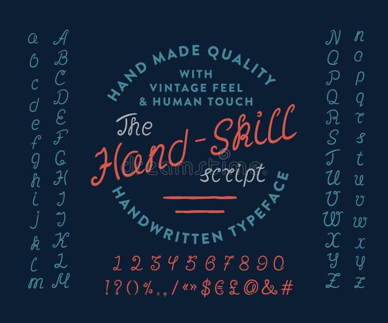 O ROTEIRO DE HAND-SKILL ilustração royalty free