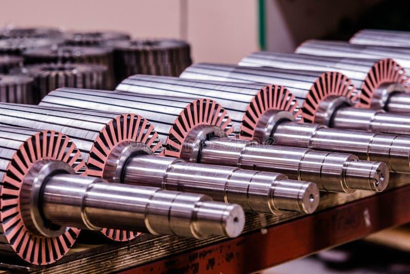 O rotor do motor bonde do estoque fotografia de stock royalty free