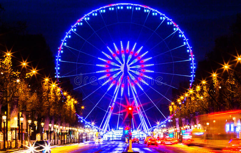 O Roue de Paris, lugar de la Concorde, França imagens de stock