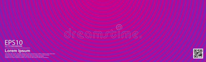 O roxo colorido abstrato de Proton do inclinação e o fundo cor-de-rosa plástico do círculo de cor ilustração royalty free