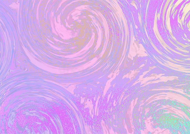 O roxo roda em um fundo cor-de-rosa-verde brilhante ilustração stock