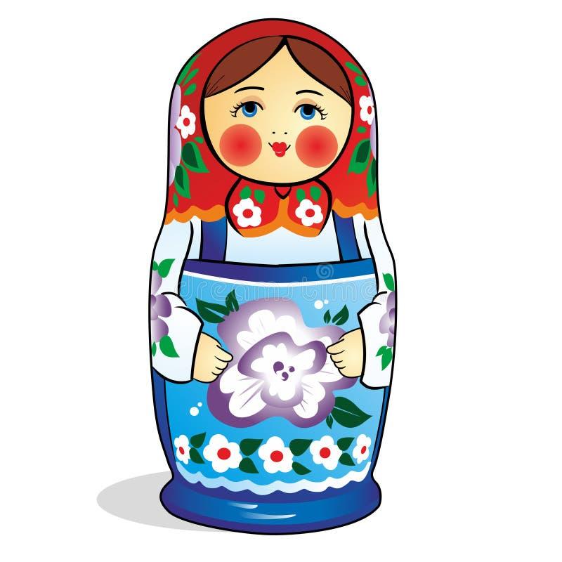 O russo original aninhou a boneca (Matryoshka) no branco, que são coloc perto junto como uma família foto de stock royalty free