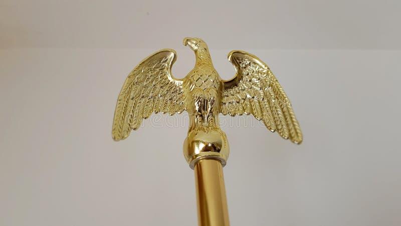 O símbolo da águia americana dourada fotografia de stock royalty free