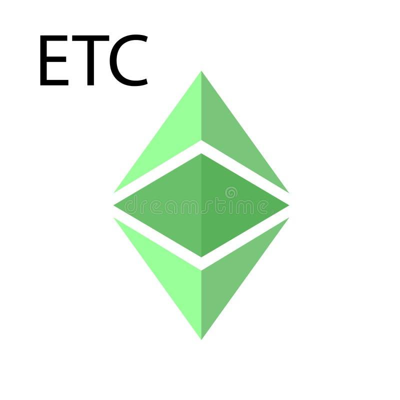 O símbolo do clássico do ethereum ilustração do vetor