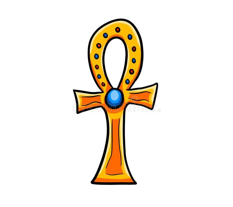 O símbolo egípcio de Ankh ilustração royalty free