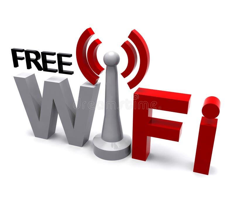 O símbolo livre do Internet de Wifi mostra a cobertura ilustração do vetor