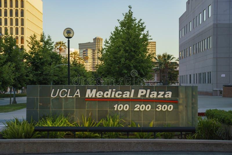O símbolo médico da plaza do UCLA fotos de stock royalty free