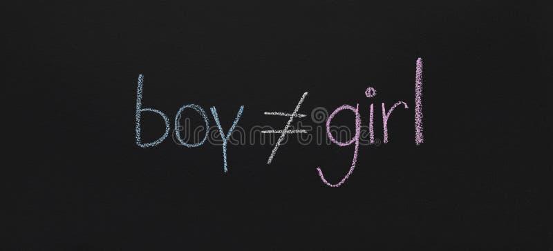 O símbolo masculino não é fêmea igual, esboço do quadro fotografia de stock