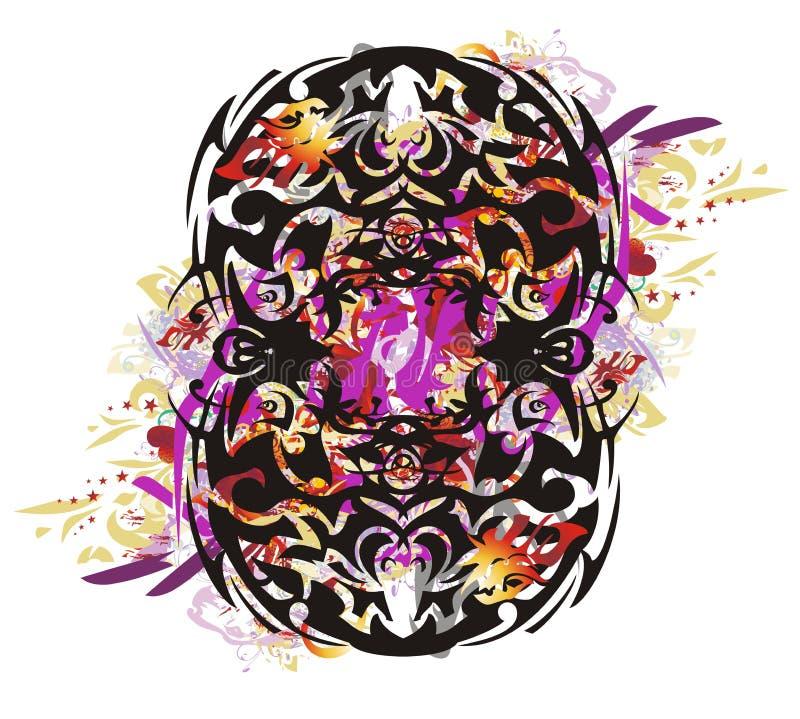 O símbolo oito tribal do Grunge espirra ilustração royalty free